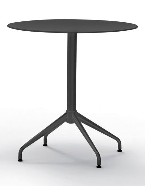 Bistrotisch Pro Table - Vierstern-Fuß - schwarz - Flötotto