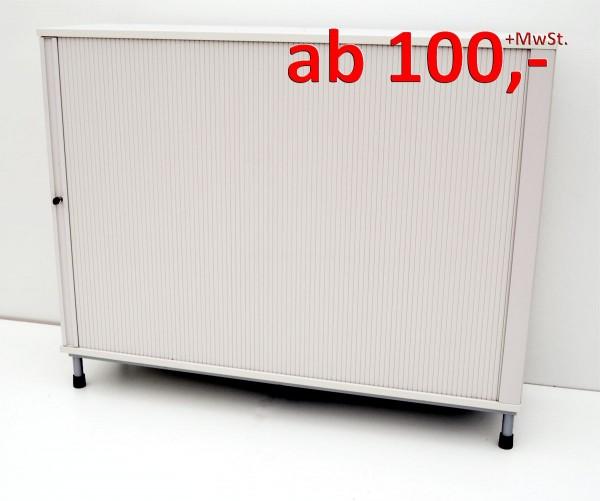Querrollladenschrank - 3 OH, 160 cm - weißgrau - Haworth