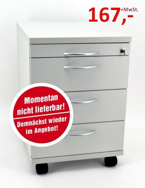 Rollcontainer - 4 Schübe - lichtgrau - Heyne