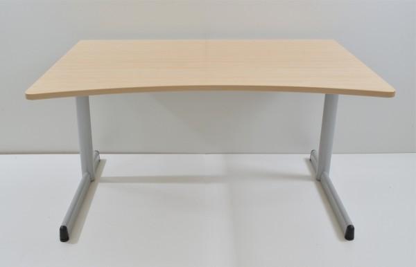 Schreibtisch - 140 cm - Cockpitform - Ahorn - Werndl
