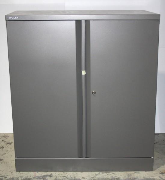 Bisley - Aktenschrank - stahlsilber - Metall - abschließbar