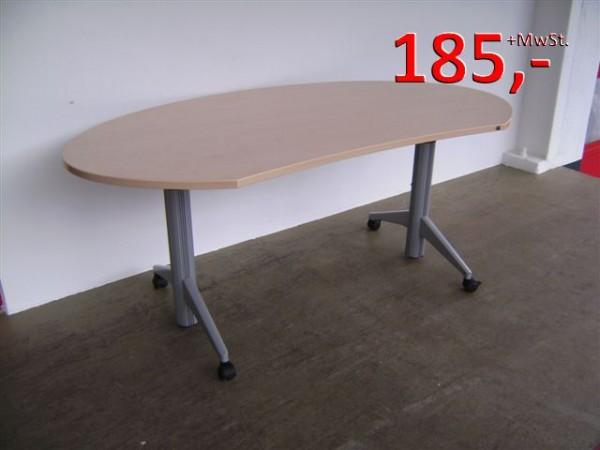 Freiform-Schreibtisch, rollbar - 180 cm - Ahorn - König + Neurath