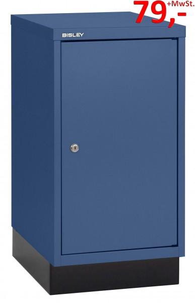 Bisley Türenschrank 112C, ein Boden, mit Sockel, blau - Neuware