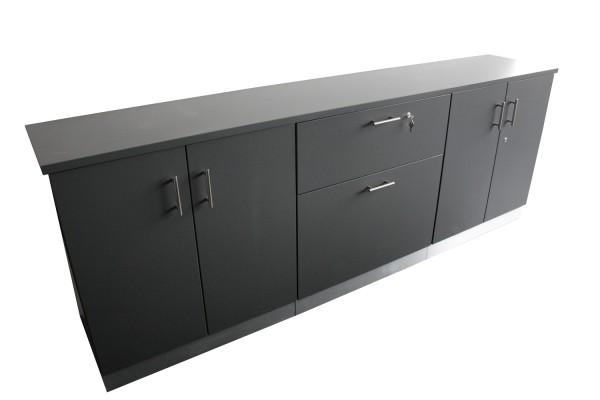 Sideboard - 245 x 46 cm - Höhe 91 cm abschließbar
