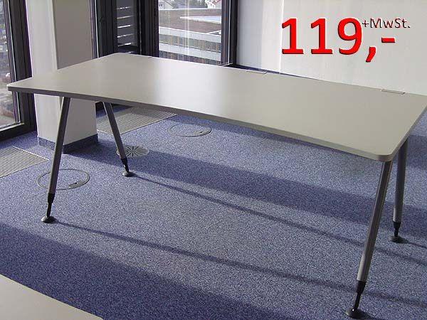 Frisco II Schreibtisch, Wellenform - 180 cm - von Werndl (Steelcase)