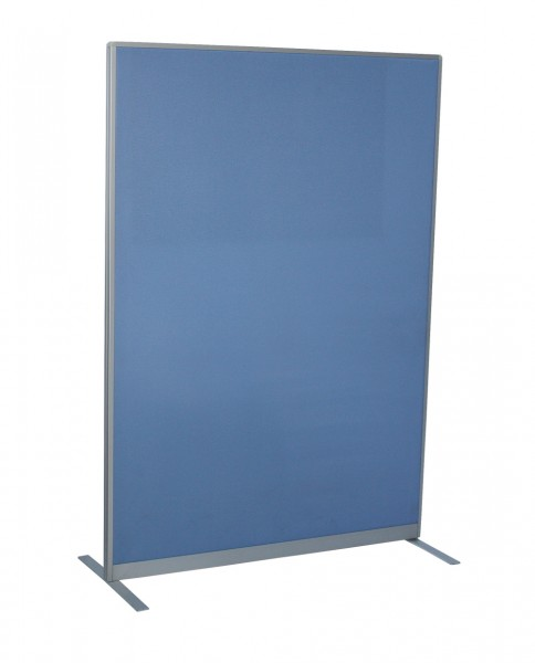 Trennwand - 130 x 80 cm - Rahmenteile: Aluminium - akustisch wirksam