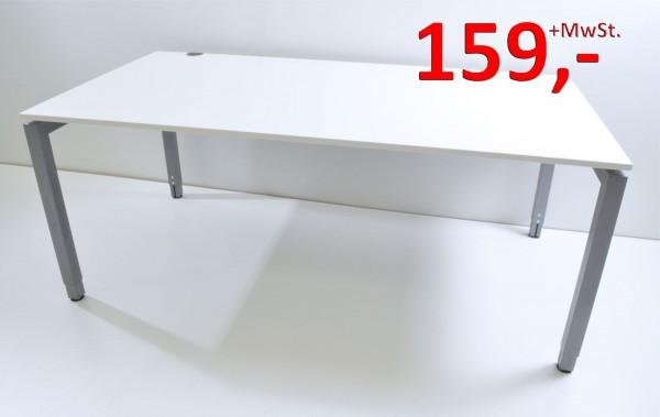 Schreibtisch - 180 cm - höhenverstellbar - arktisweiß - Schärf