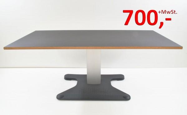 Rose + Krieger Schreibtisch - 180 cm, elektrisch höhenverstellbar - schwarz - Platte neu
