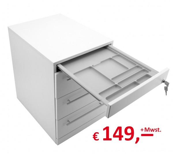 Originalverpackt! Rollcontainer 3S - 4 Schubladen -weiß - neu - Reinhard