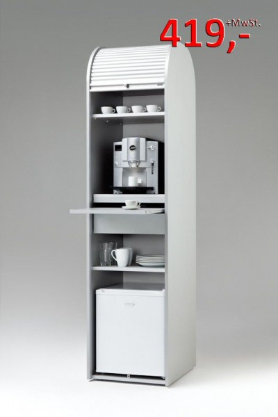 Klenk Collection - Kaffeeschrank - silber