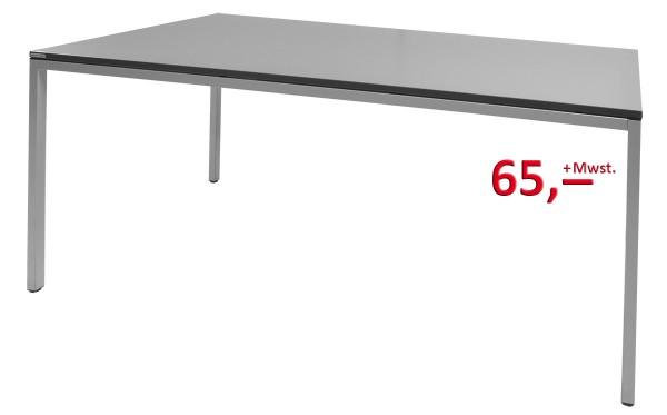 Schreibtisch - Platte anthrazit, Gestell silber