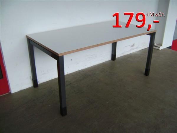 Schreibtisch - 180 cm - weißgrau - Steelcase
