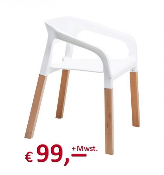 Kare Design - Stuhl - Chair Rack White -