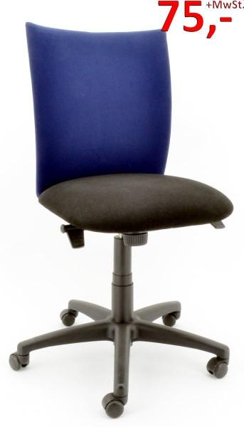 Drehstuhl 510101 - schwarz / blau - Fröscher