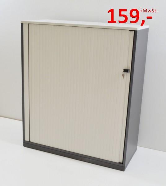 Querrollladenschrank - 3 OH, Griffleiste - weiß, anthrazit - Steelcase
