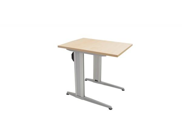 Schreibtisch, Schulungstisch, klappbar, Farbe Ahorn-Copy