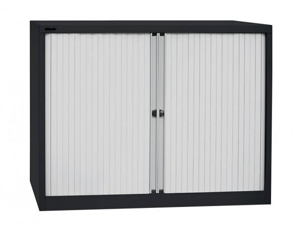 BISLEY Euro-Rollladenschrank - Breite 1000 mm - 1 Fachboden - abschließbar - mit Stahlfachböden