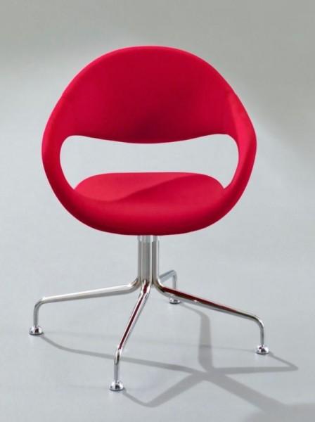 4-Fuss Sessel Samba - rot