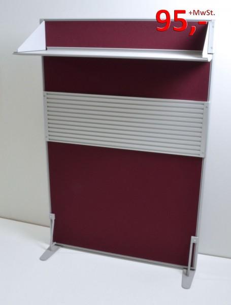 Trennwand / Funktionswand inkl. Ablage - 150 x 100 cm, weinrot - Werndl