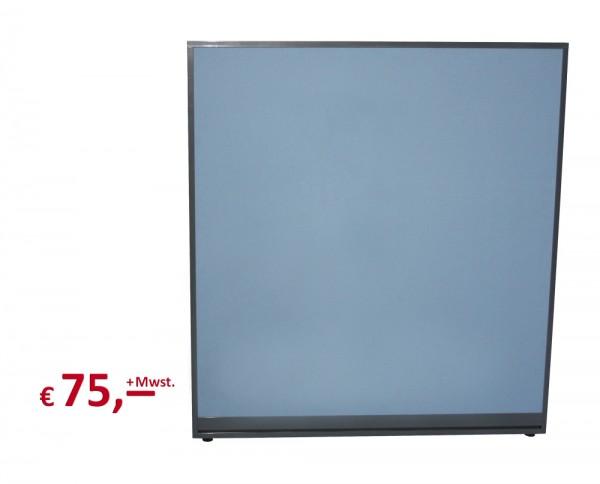 Raumteiler - 130 x 120 cm - akustisch wirksam - Rahmen: metall anthrazit-farbig