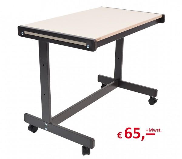 Vielhauer - Fahrwagen/Tisch - Dekorplatte: sandfarbig - Gestell: schwarz - ausziehbar