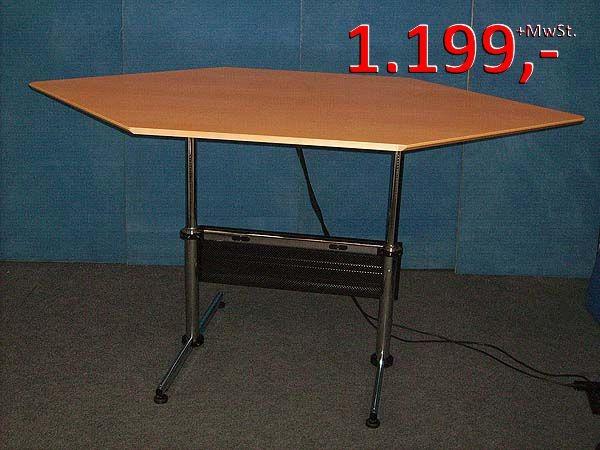 USM Haller - Raute-Schreibtisch, elektrisch höhenverstellbar, gebraucht
