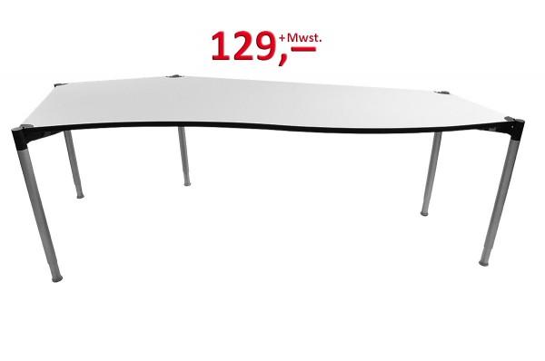Schreibtisch Freiform - hellgrau - VS-Möbel-Copy