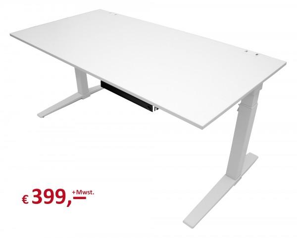 König + Neurath - System-Schreibtisch TALO.S - manuelle Höhenverstellung - reinweiß - 160 x 80 cm