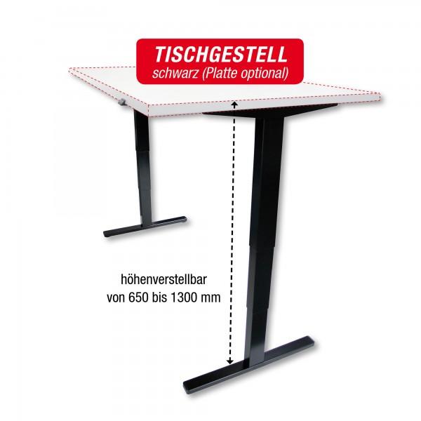Tischgestell schwarz - elektrisch höhenverstellbar - Breite: 140 bis 200 cm - zur Selbstmontage