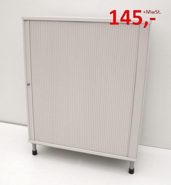 Querrollladenschrank - 3 OH, 100 cm - weißgrau - Haworth