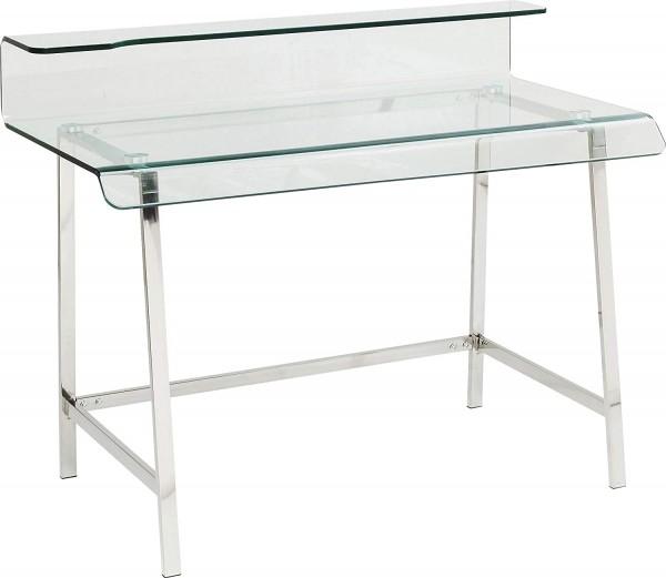 Kare Design - Schreibtisch Visible Clear - Glasschreibtisch - Schreibtisch aus Glas und Metall