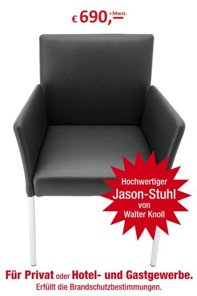 Walter Knoll - Stuhl mit Armlehnen - geeignet als Konferenz- oder Empfangsstuhl - sehr hochwertig -