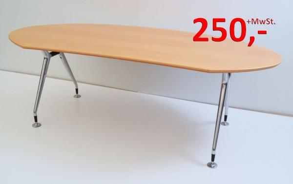 Schreibtisch 210 cm - Echtholzfurnier Buche - König + Neurath