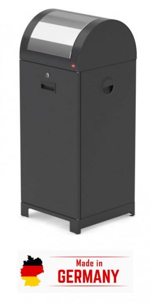 System-Wertstoffsammler - robuste Einwurfklappe - hochwertiges Stahlblechgehäuse