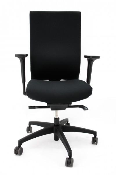 Bürodrehstuhl @Just - schwarz - mit hoher, flexibler Rückenlehne