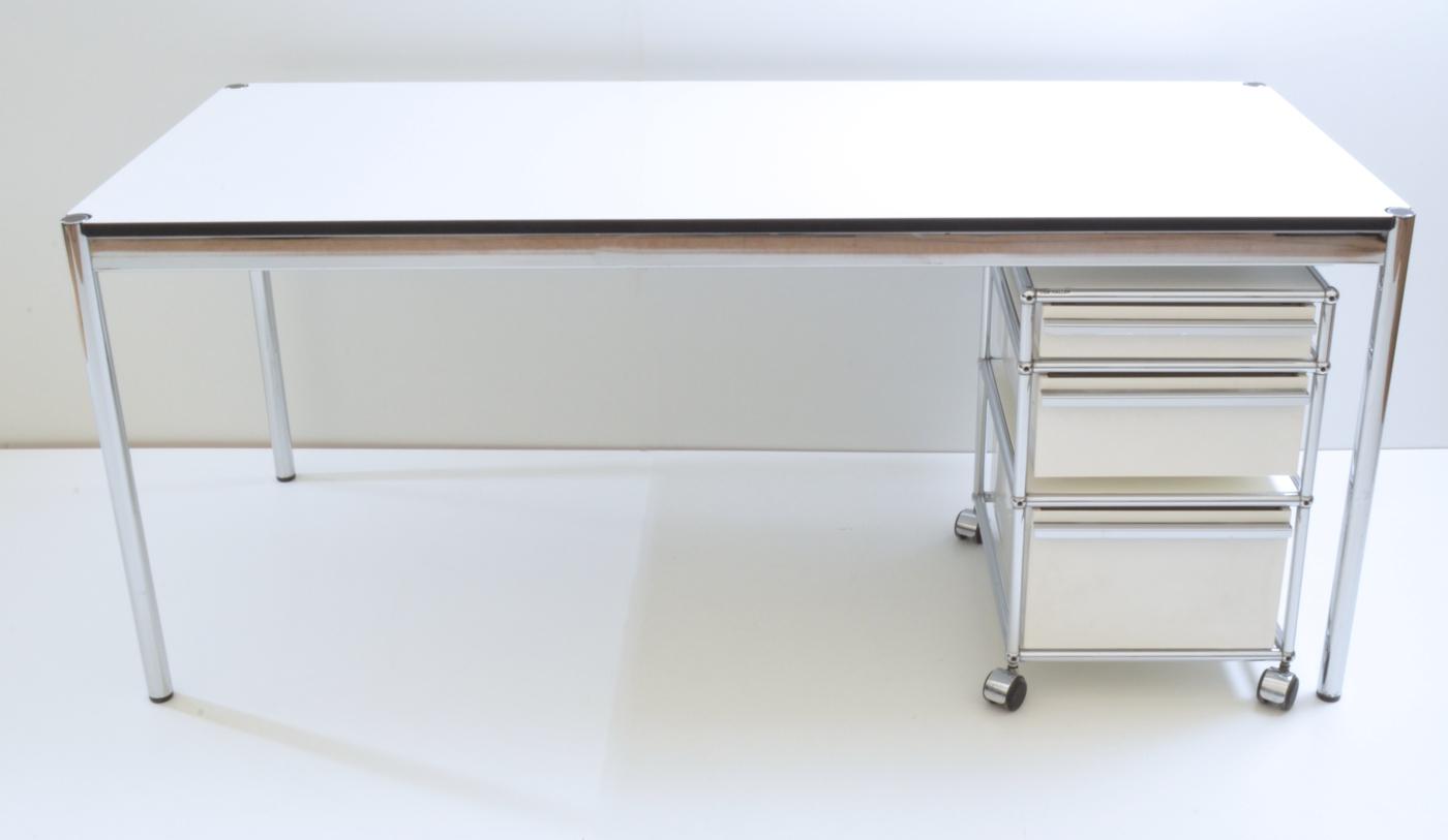 Schreibtisch 175 Cm Weiß Usm Haller Büromöbel Outletde
