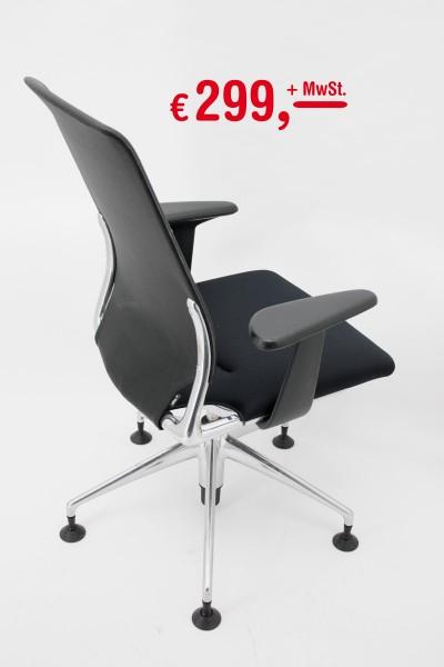 Vitra - Meda Chair - Rückenlehne aus Netzgewebe - 5-Sternfuß poliert - mit Rollen oder Gleiter