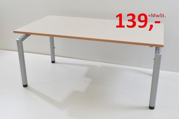 Schreibtisch - 150 cm, höhenverstellbar - cremeweiß - Pfalzmöbel