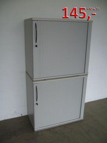 Aktenschrank - 4 OH - lichtgrau - mit Querrollladen