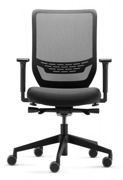 Bürostuhl des Monats! - Bürodrehstuhl to-sync mesh SC 9242 - schwarz - Dauphin