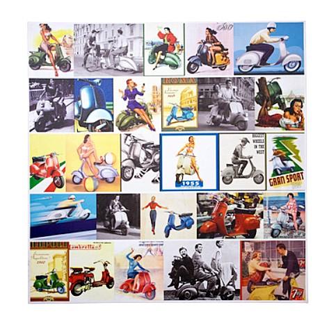 """Kare Design - """"Kunstdruck Motoretta"""" - Collage"""