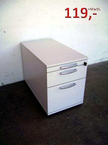 Rollcontainer - 1 Schublade, 1 HR-Schublade - weißgrau - dyes