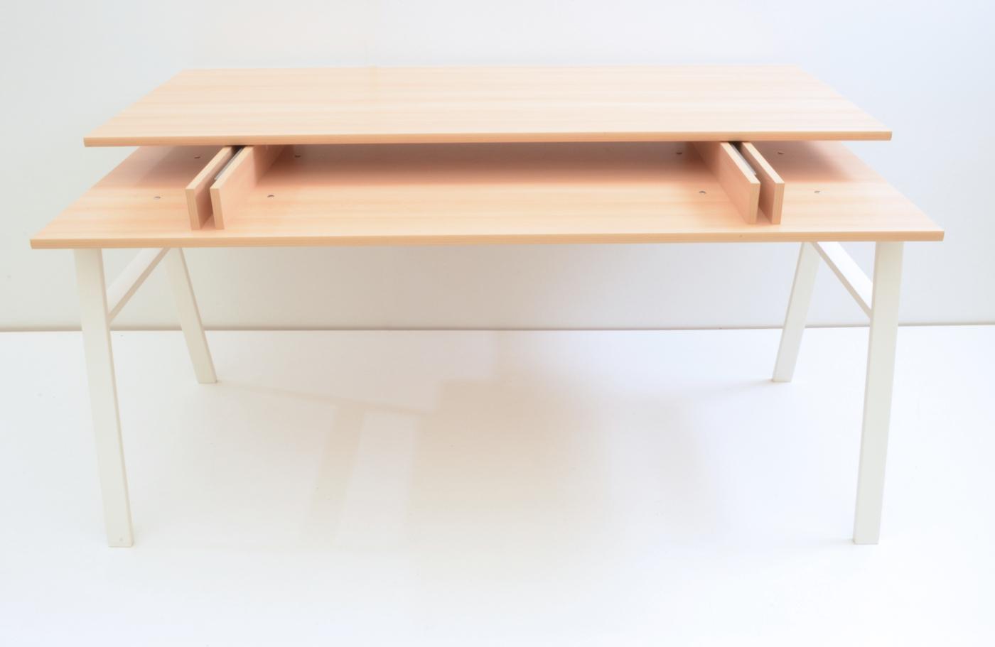 Schreibtisch 160 Cm Mit Schiebeplatte Buche Dekor Maja