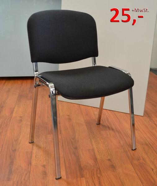 Konferenzstuhl Iso - schwarz, Chrom