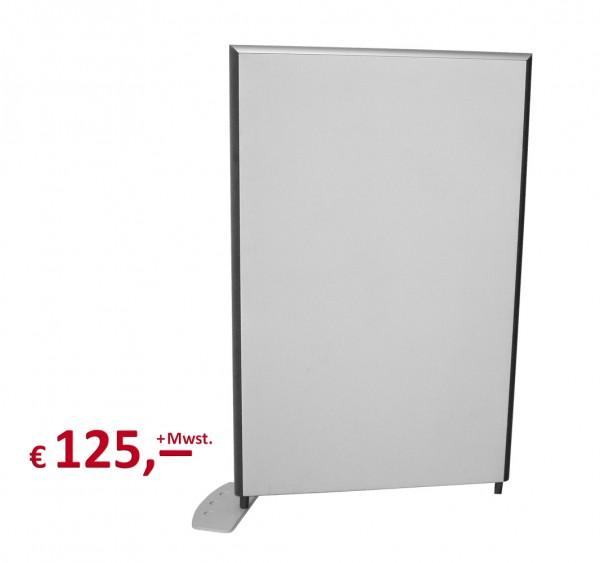 Preform - Trennwand - 158 x 100 cm - hellgrau - inkl. 1 Standfuß
