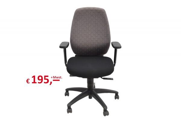 Drehstuhl mit quadratischem Muster, höhenverstellbar und neigbar