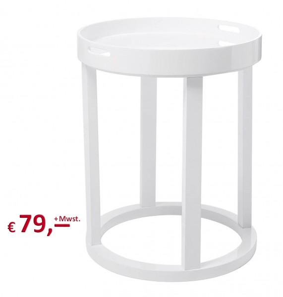 Kare Design - Beistelltisch Botte 62 x 46 x 46 cm weiß - MDF