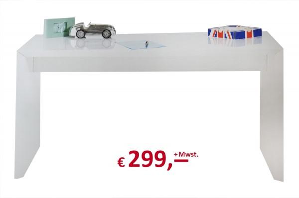 Kare Design - Schreibtisch - White Trapez - 150 cm breit