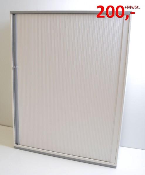 Querrollladenschrank - 4 OH, Griffleiste - weiß - OKA