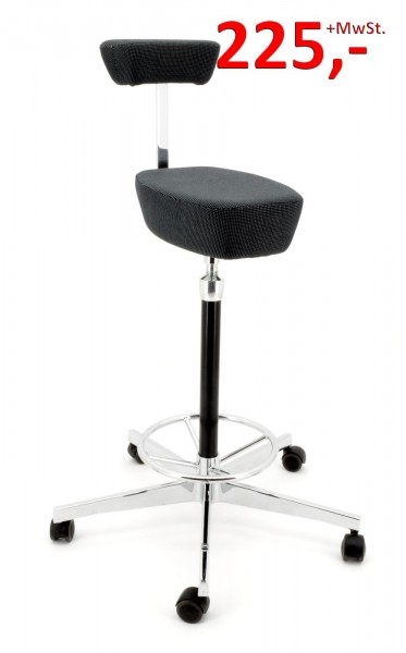 Vitra Nelson Perch Drehhocker - anthrazit/grau